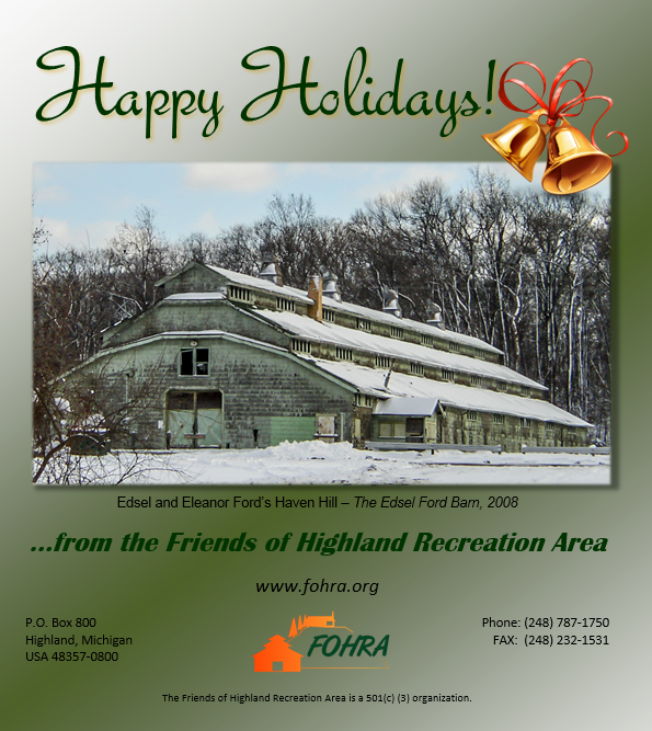 FOHRA Happy Holidays Greeting Card 2014