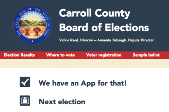 Carroll County's election website