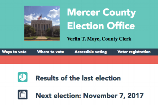 Mercer County's election website
