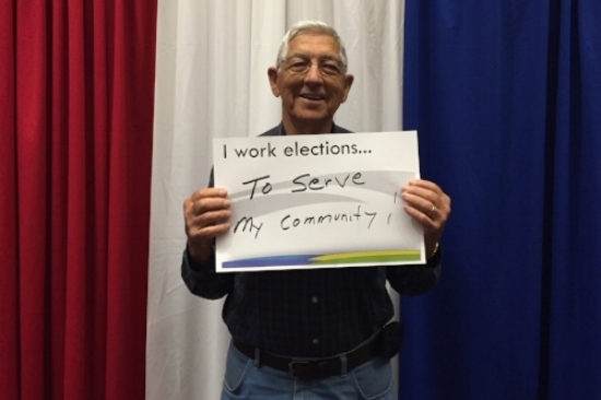 One of Wake County's dedicated Precinct officials. Photo courtesy of Angel Perkins.