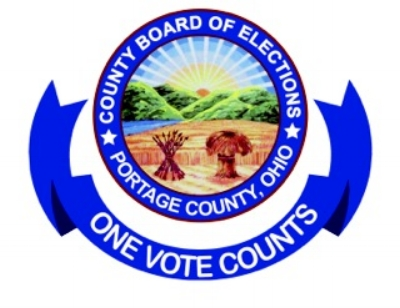 The proud seal of Portage County's Board of Elections