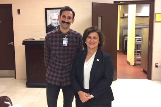 Kurt with Secretary of State Nellie Gorbea. Photo by Rob Rock.
