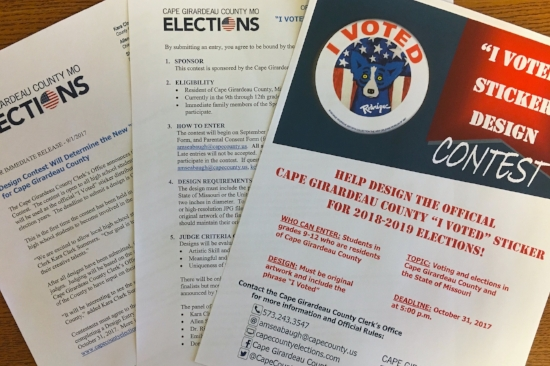 Contest materials. Photo courtesy of the Cape Girardeau County Clerk's office.