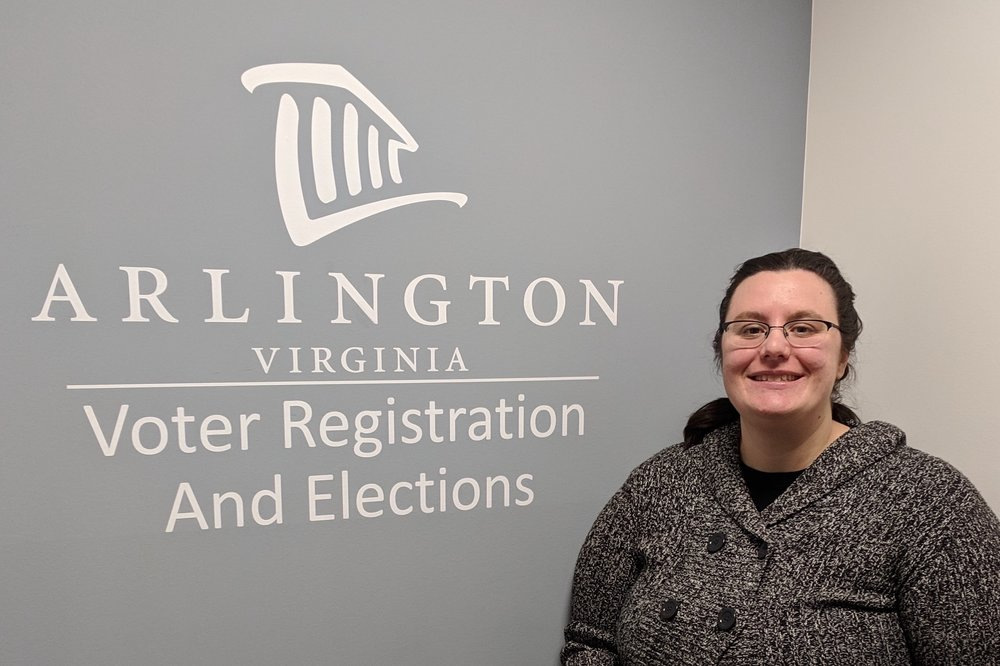 Gretchen Reinemeyer, Deputy Registrar. Photo courtesy of the Arlington Elections department.