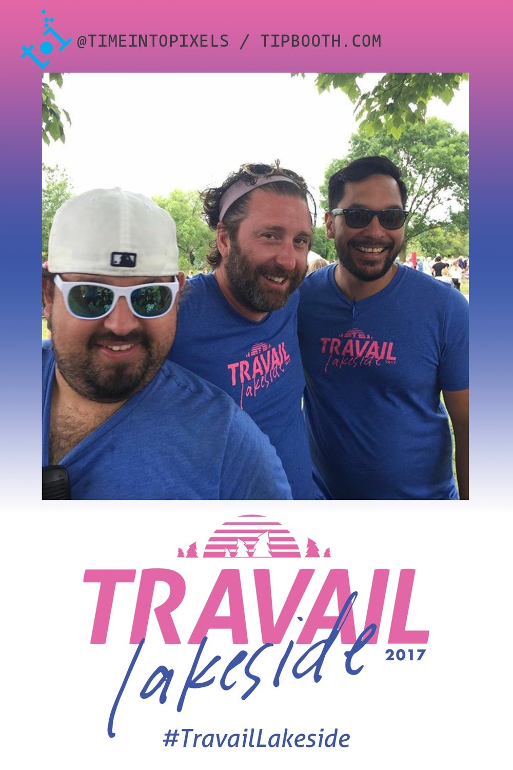 Post your photos to Instagram with the hashtag #travaillakeside and pick up a free printed version at the Time Into Pixels booth!