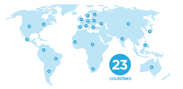 Clients in 23 countries