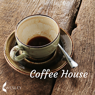 Coffee House - One of our favorite events is Coffee House! When the weather starts getting warmer we open up our doors, offer live music on the patio, and serve up free coffee and baked goods to anyone who stops by. The night ends with an open mic, which may just be the most fun part!