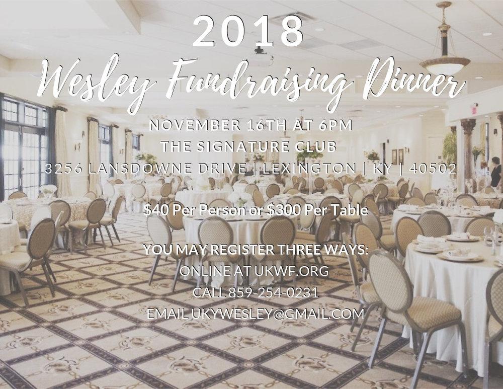 2018 Fundraising Dinner -