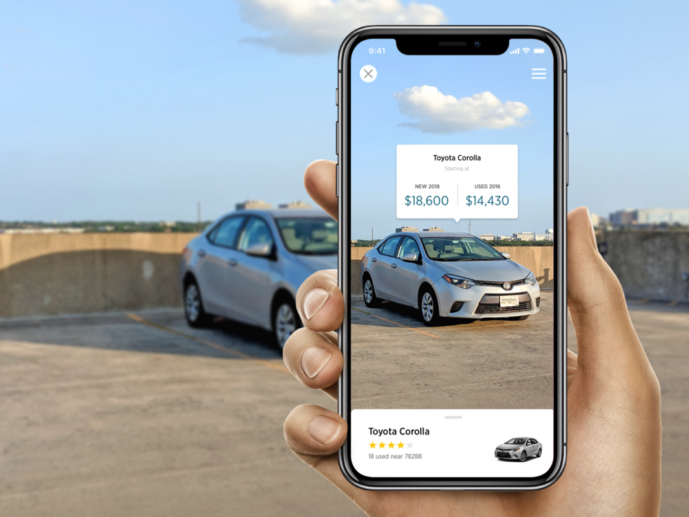 AUTO AR - Research | Journey Mapping | UX | Wireframing | IA | UIAn augmented reality platform for users to quickly view, explore, and capture information on vehicles right in front of them.