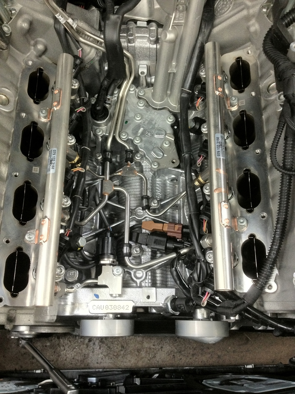 Without the Intake Manifold On