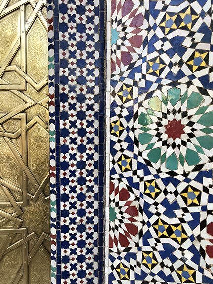 Breathtaking marble, stone, and clay mosaic work is found throughout Morocco in the form of architecture, art, paving, walls, and decorative elements.