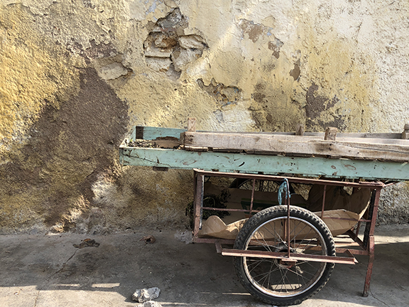 The light and subtle tones of a cart on a side street in Fez reflect the ephemeral beauty and age of much of Morocco.