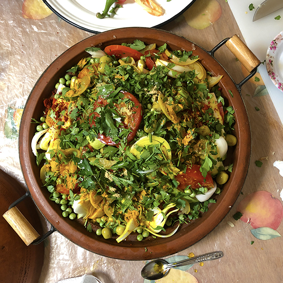 An intimate cooking class in the family home of our guide provided a wonderful experience to learn the tradition method of tagine cooking, replete with local produce, herbs, and spices.