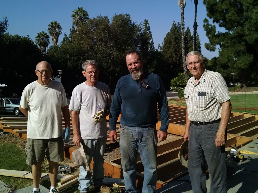 Our Deck Construction Crew:  Bob Stow, Joe Kaufman, Phil Pepin, and Jim Olson