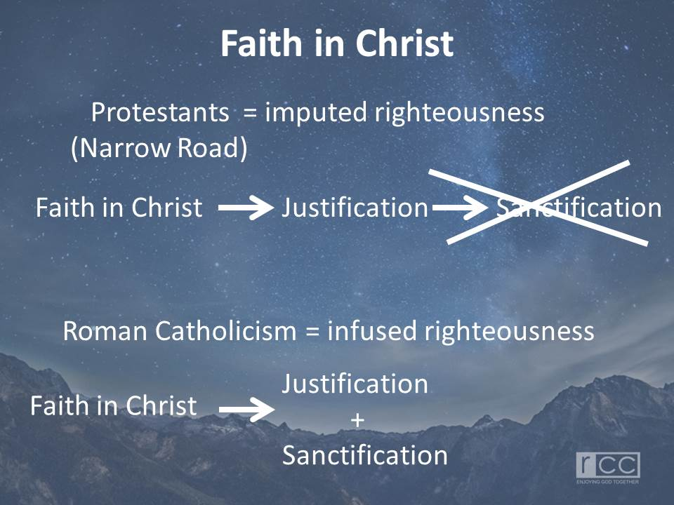 Differences Between Protestant Church and Roman Catholic CHurch
