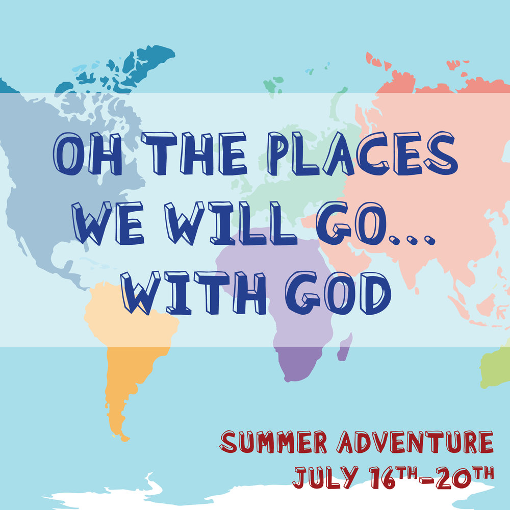 RCC's SUMMER ADVENTURE - CAN'T WAIT 'TILL NEXT YEAR! - 2018 - OH THE PLACES WE WILL GO... WITH GOD! Kids ages entering 1st through entering 6th grades had a great week of workshops and activities like no other. Information and registration instructions for 2019 will be out Spring 2019!! Hope to see you here!