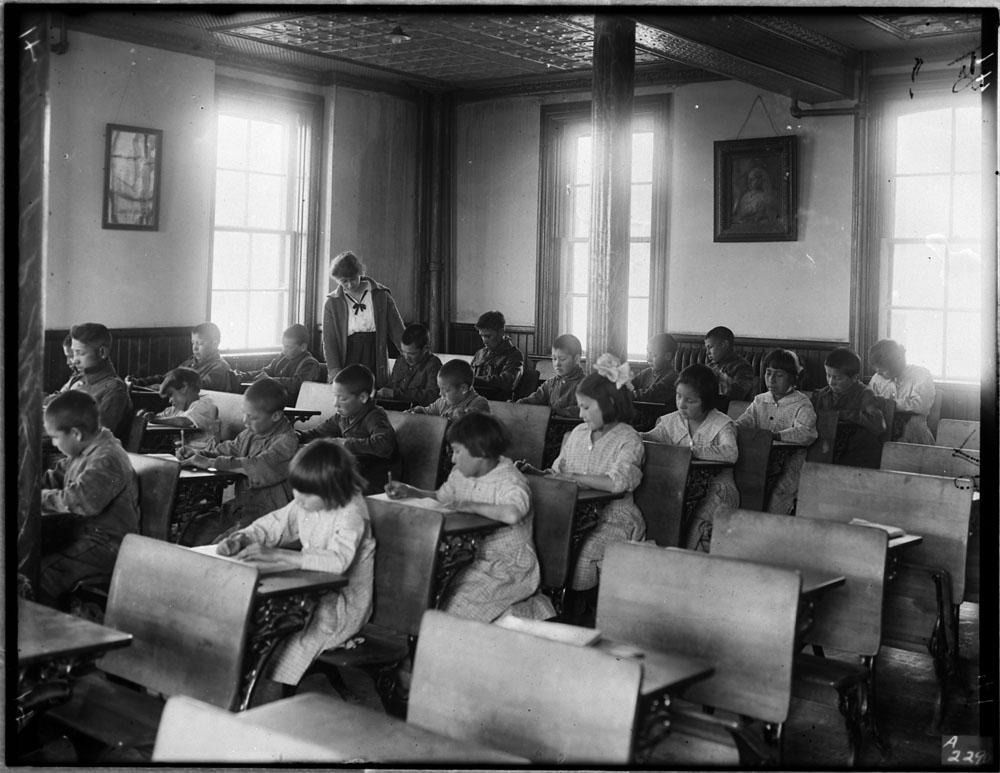 Indigenous children at residential school, 1946