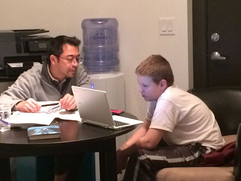 Tutoring session with Edmund.