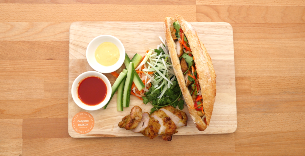Grilled Lemongrass Chicken Banh Mi                                                                                                        Photography by Stephen Michetti