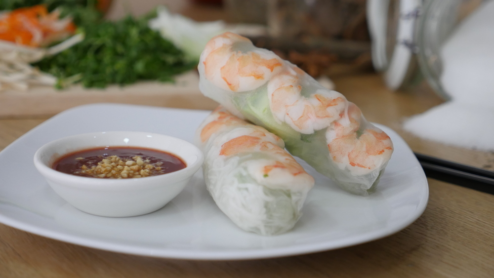 Prawn Summer Rolls with Peanut Sauce
