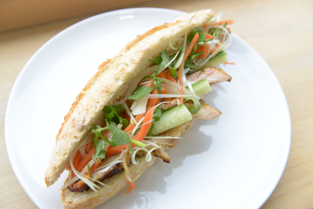 One of our classic Banh Mi with the Lemongrass Chicken