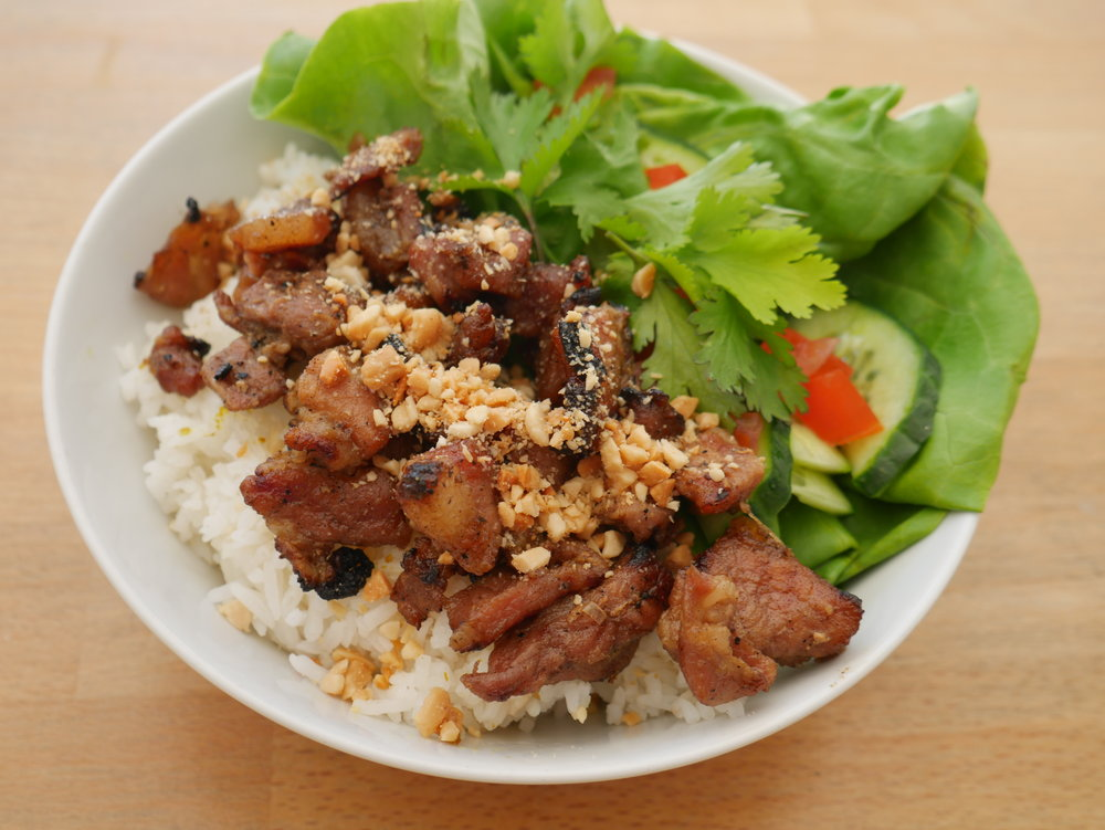 Honey Caramelised Pork with Rice