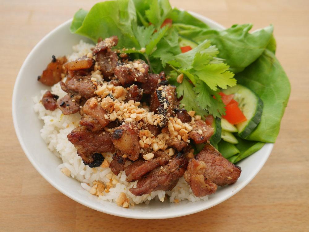 Honey Caramelised Pork Rice Lunchbox
