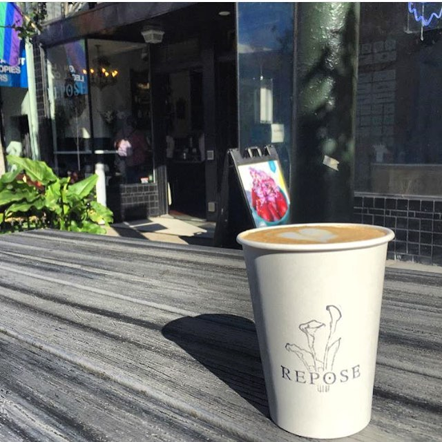 Turned out to be another beautiful day ! Repost from @concowwild #lovemyneightborhood #lowerhaight #reposecoffee #latter #latteart #supportsmallbusiness