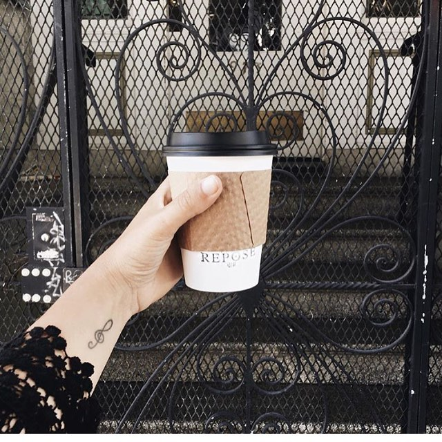 Thank you to @wildchild_blog for this cool shot! #latteart #reposecoffee #lowerhaight #latte #lovemyneightborhood #supportsmallbusiness