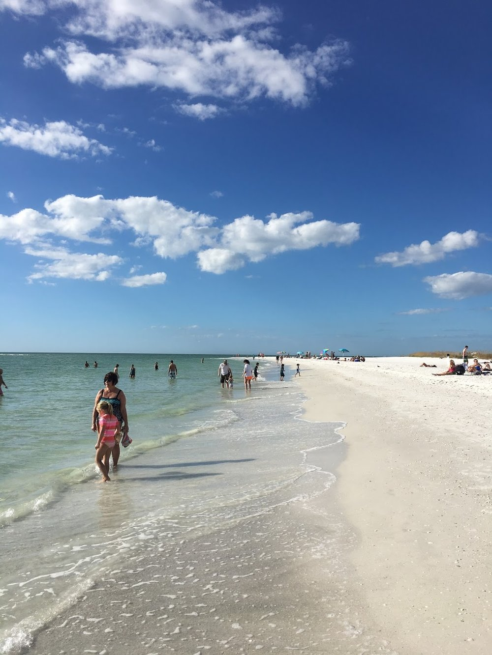The beach at Longboat Key