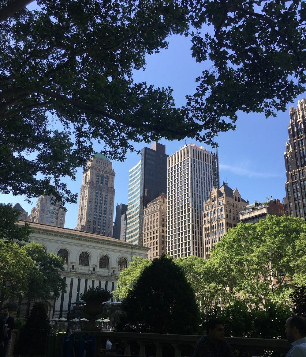 Morning views in Bryant Park