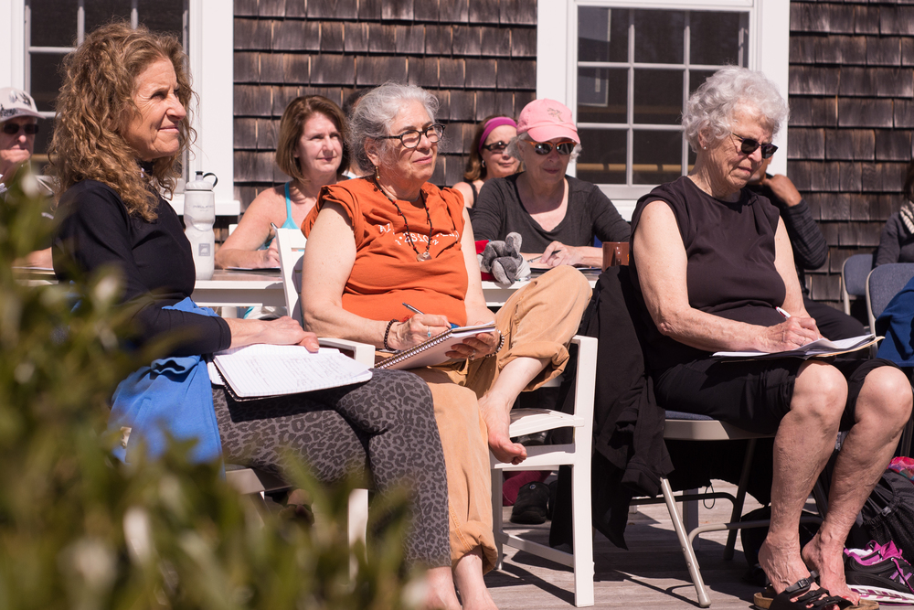 Outdoor lecture at Finding Your Food Map retreat - Martha's Vineyard, April 2015