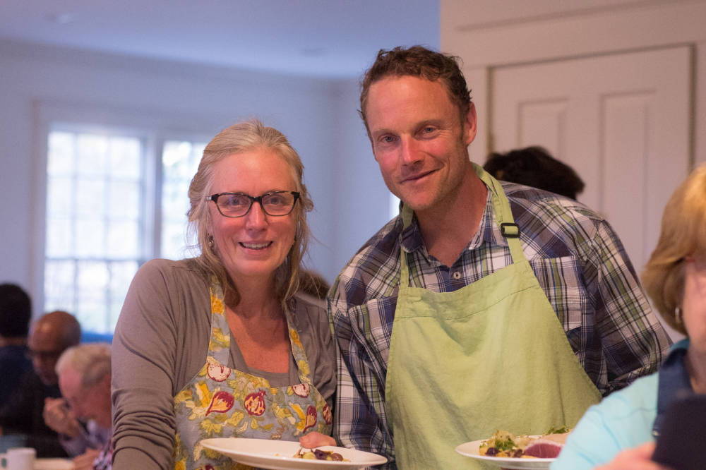 Jan Buhrman & John Bagnulo at Finding Your Food Map retreat, Martha's Vineyard, 2015.