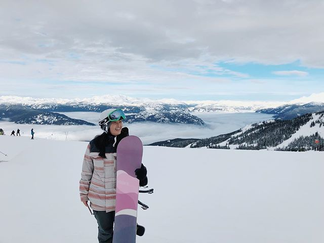 Spent most of the day face planting but the views were worth it 🏂💙✨
