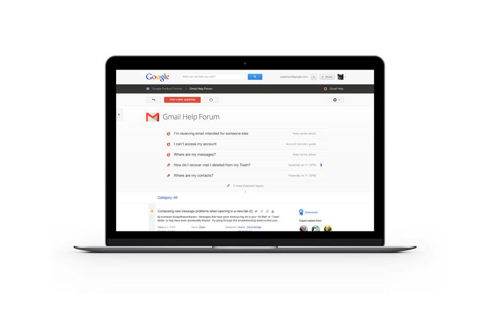 Google help forums