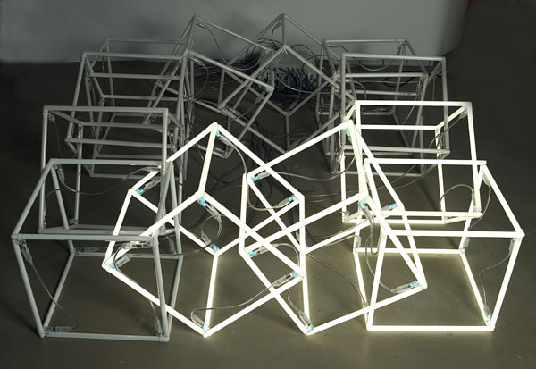 we love neon cubes.