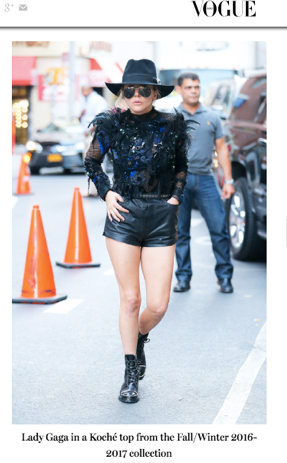LADY GAGA IN KOCHÉ // VOGUE.COM