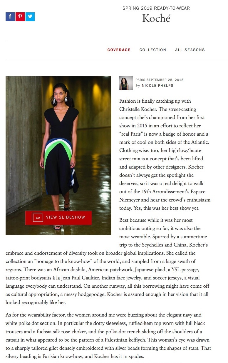 KOCHÉ IN VOGUE RUNWAY