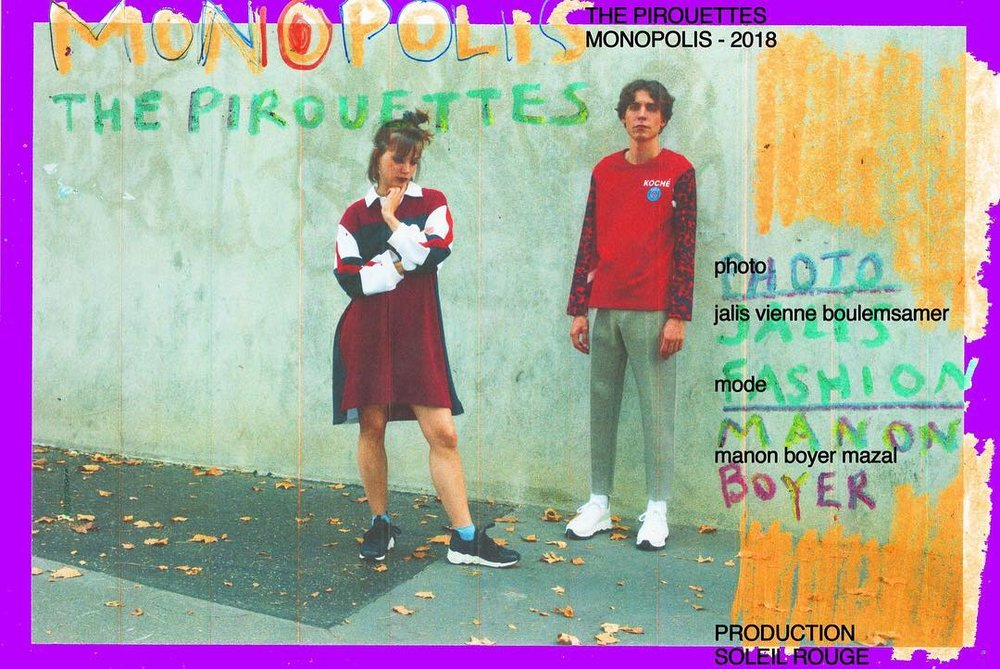 THE PIROUETTES IN KOCHÉ IN  SOLEIL ROUGE MAGAZINE