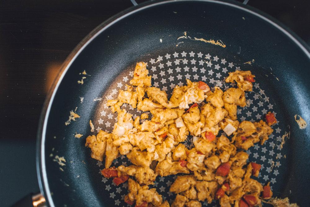Vegan Chickpea Scramble