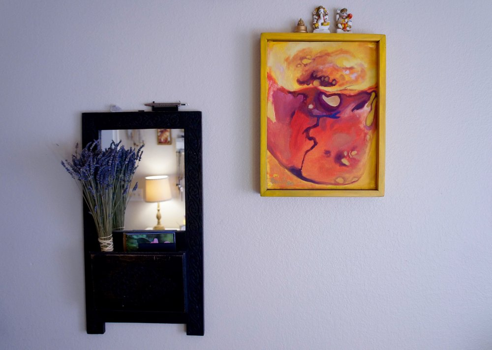 mirrors & original artwork add positive chi to your space. this painting is by minnesota artist    kerry pennings   .