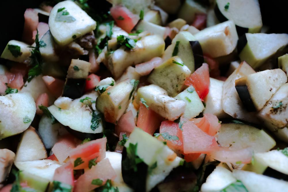 Zaalouk - Moroccan aubergine salad