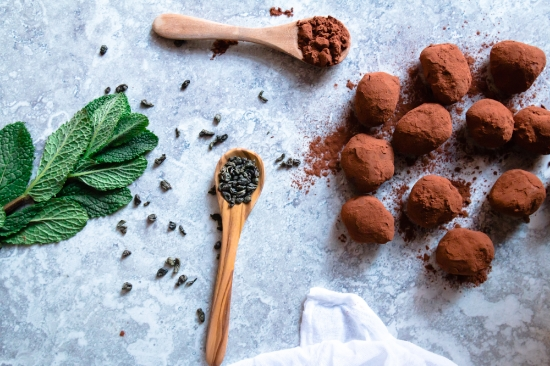Moroccan Mint Tea Infused Chocolate Truffles