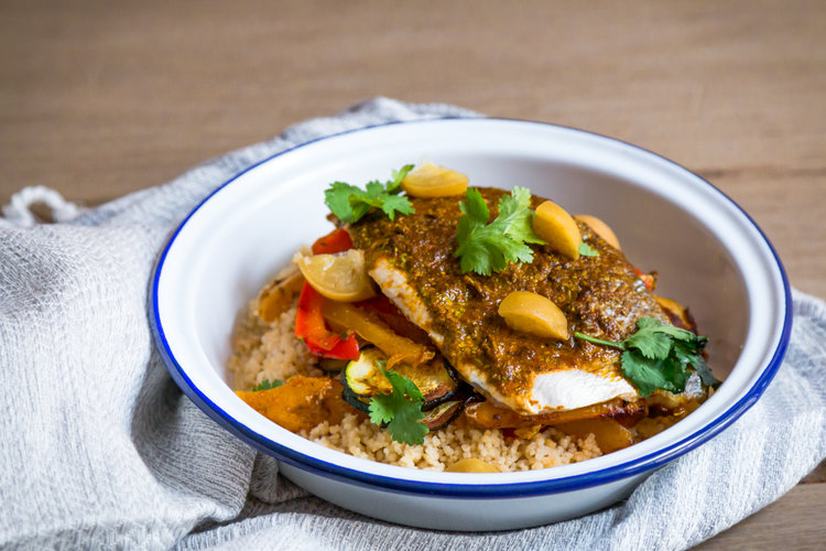 Quick fish tagine with chermoula a video my moroccan food forumfinder Image collections