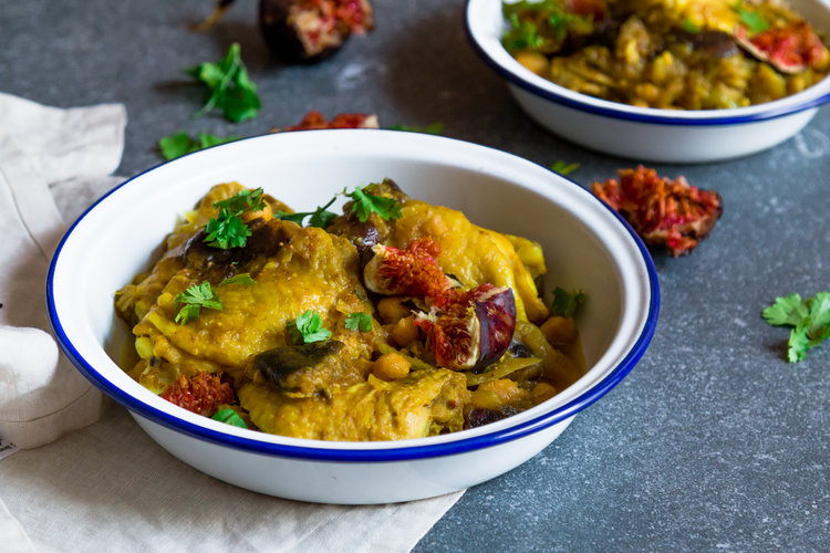 Chicken tagine with chickpeas and fresh figs my moroccan food forumfinder Images