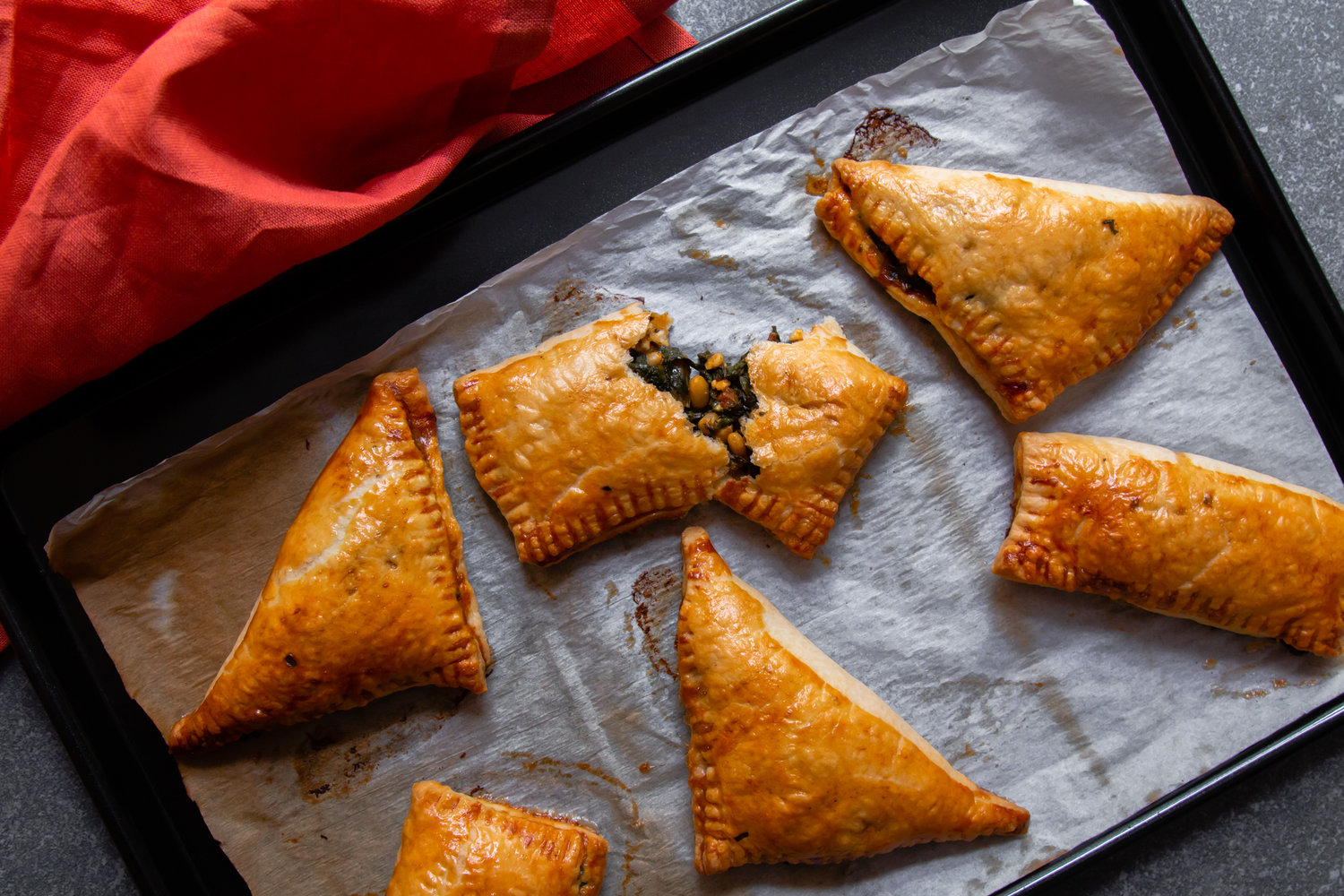 Bakoula, feta and pine nuts hand pies