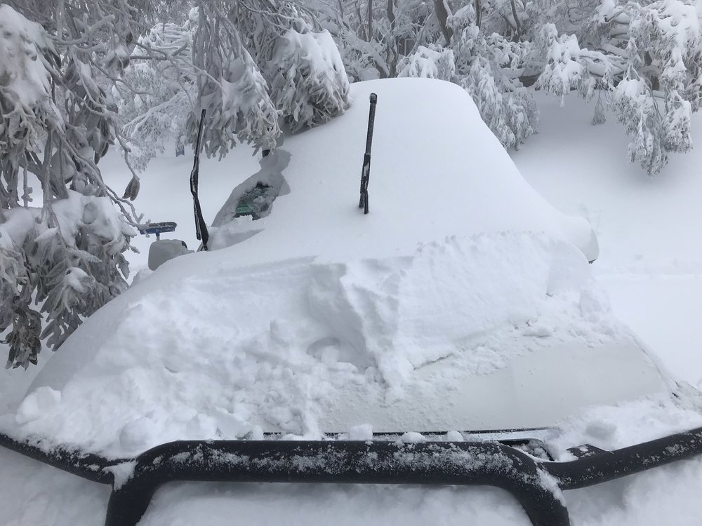 buried car at the snow