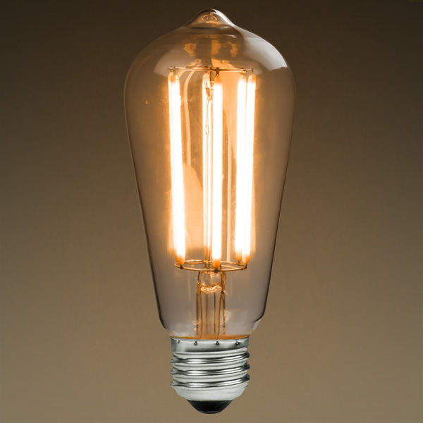 led antique filament bulb edison style 6 watt 60w equivalent 2200k. Black Bedroom Furniture Sets. Home Design Ideas