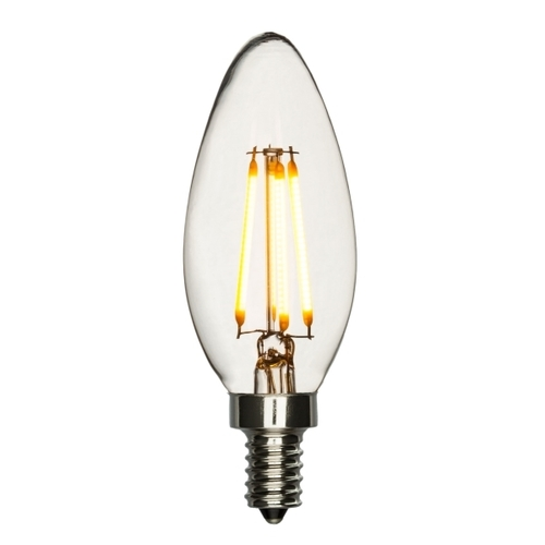 LED Candelabra Bulb 40W Equivalent Warm White 2200K Dimmable Blunt ...