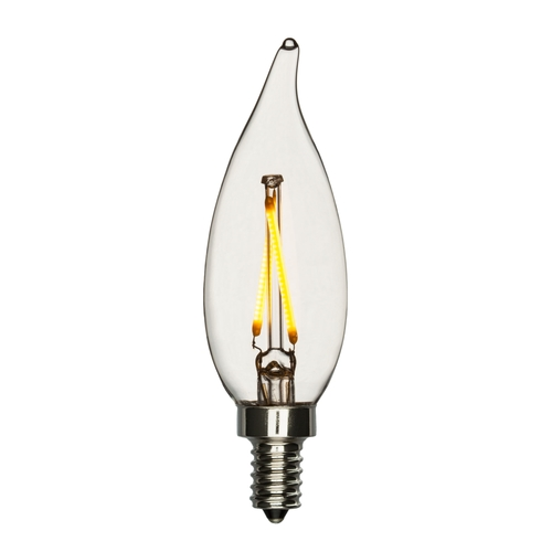 LED Candelabra Bulb 2 Watt (25W Equivalent) Bent Tip 2700K Warm ...